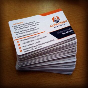 Business Card Design and customization Print Planet Ghana